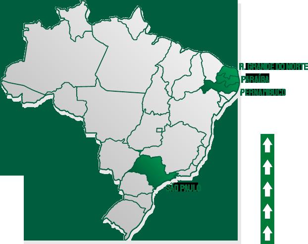 Mapa da área de atuação